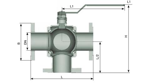 Кран трехходовой КШТ 25-32 РФХС